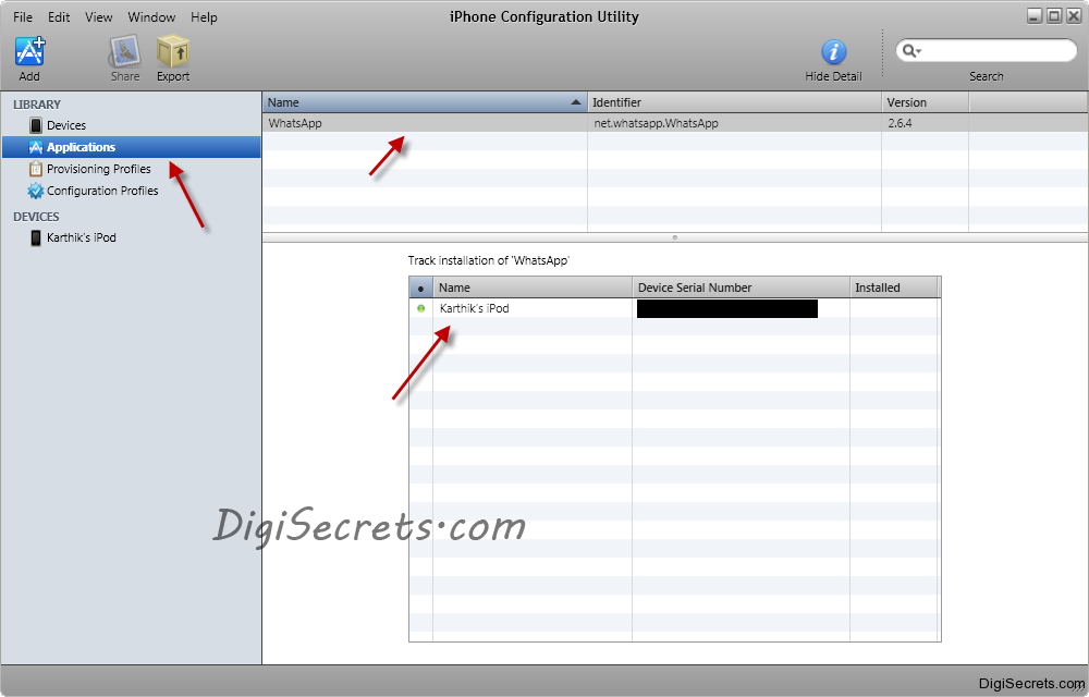 iPhone Configuration Utility - Application