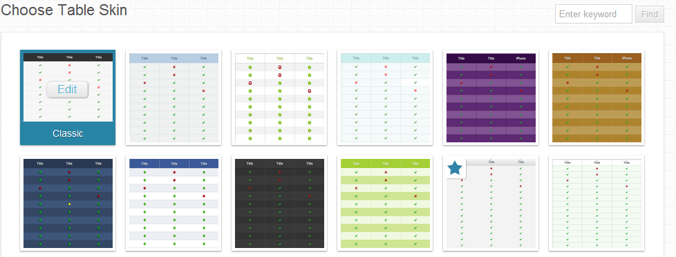 20 free html css pricing table templates ginva sample for Html table design examples