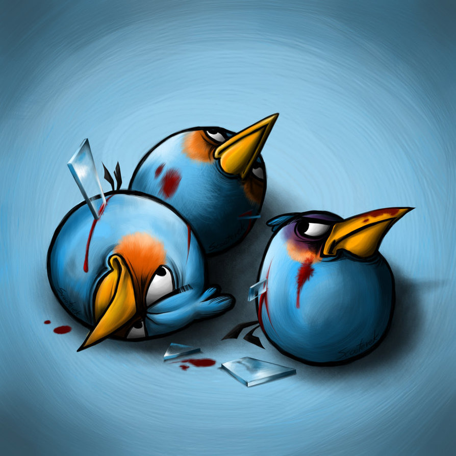 How Angry Birds Look Like After Having A War ? - DigiSecrets