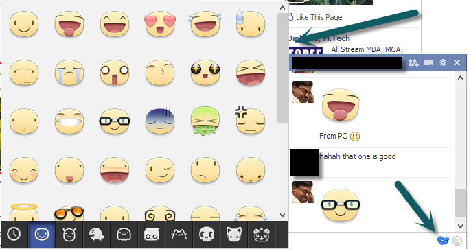send and receive facebook chat stickers from desktop using chrome