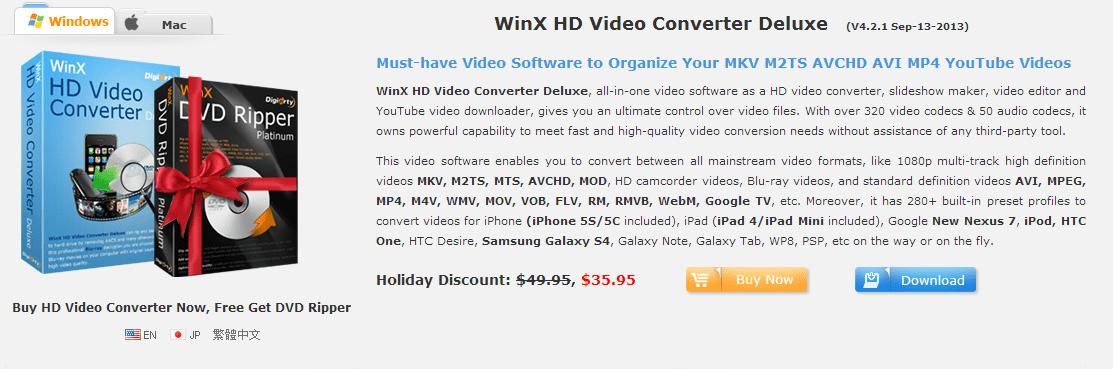 WinX HD Video Converter [Giveaway] - DigiSecrets
